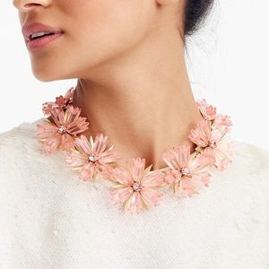 J Crew Dahlia Statement  Flower Necklace Bracelet